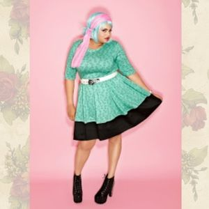 DOMINO DOLLHOUSE extremely rare bones skater dress